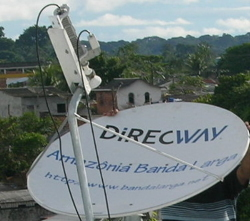 ABL Satellite dish for internet service in the Amazon.
